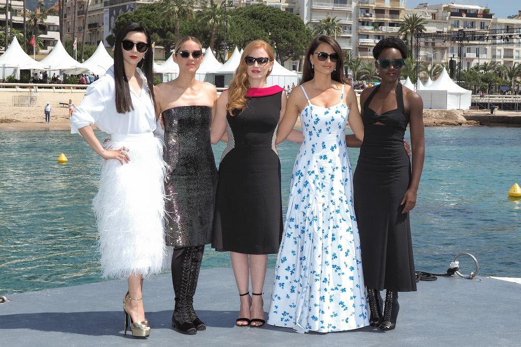 Fan Bingbing, Marion Cotillard, Jessica Chastain, Penelope Cruz, Lupita Nyong'o (Splash News)