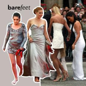 Βρήκαμε όλες τις celebrities που έχουν περπατήσει χωρίς παπούτσια στο κόκινο χαλί