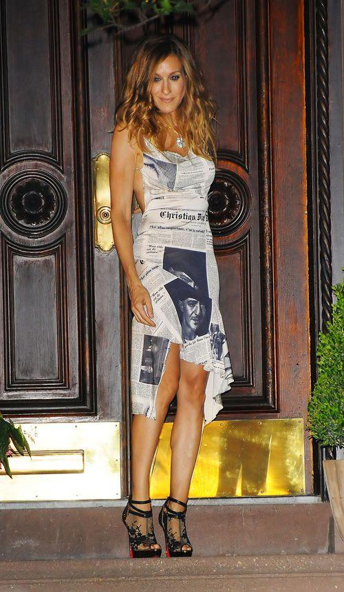 carrie bradshaw dior newspaper dress