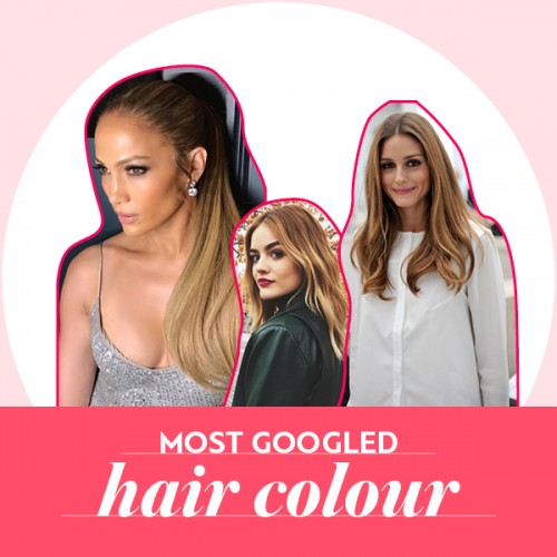 most googled hair colour