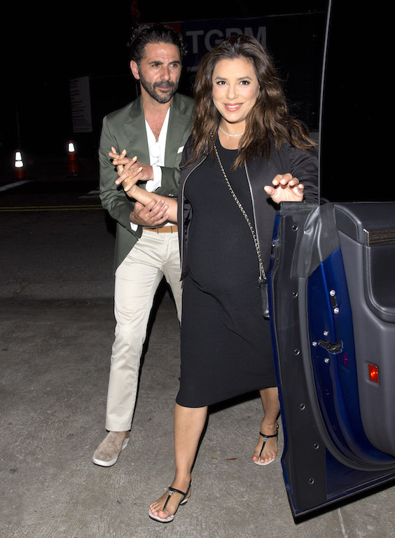Eva Longoria and her husband Jose ?Pepe? Baston were seen leaving ?AGO? Italian Restaurant in West Hollywood, CA