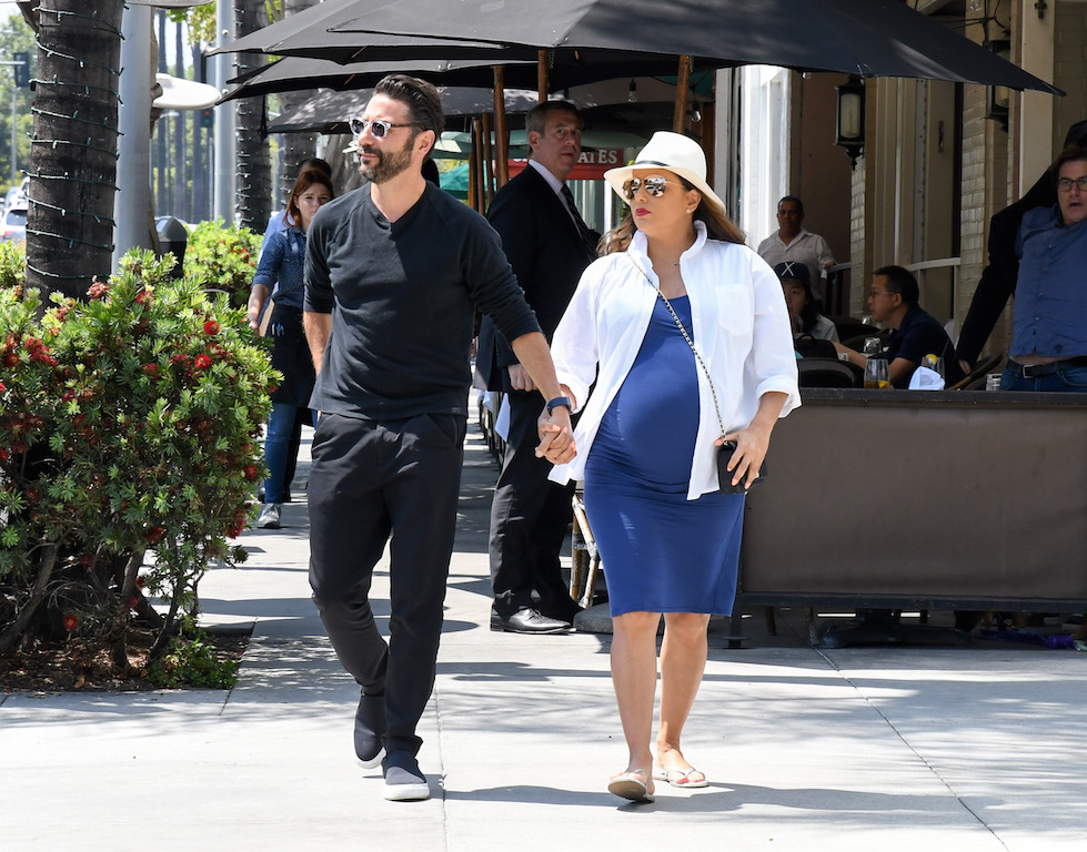 Jose Baston and Eva Longoria out and about