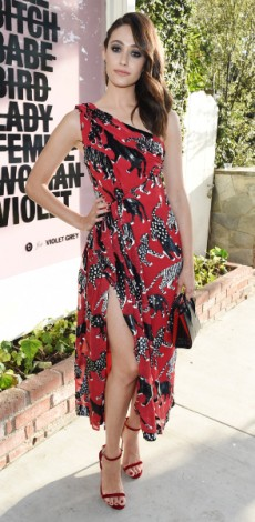 emmy rossum, mosaic, look of the day