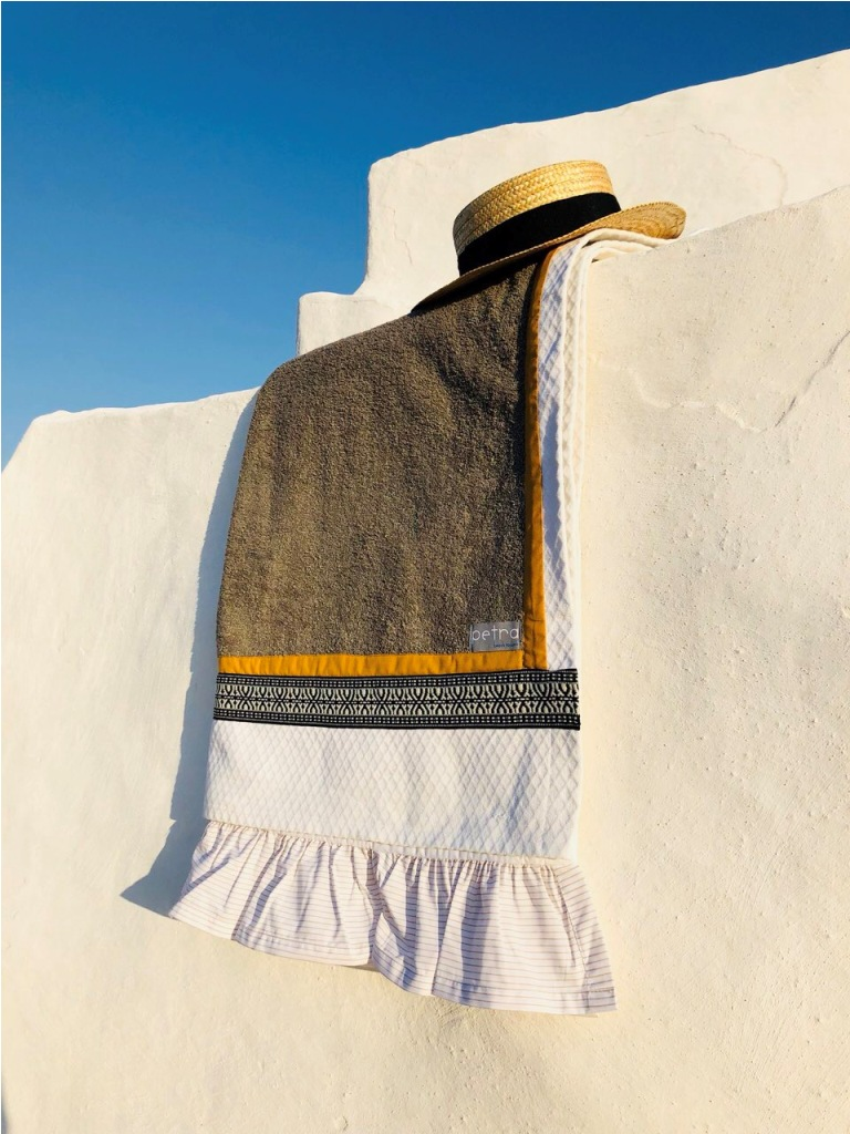 Oia petra beach towels
