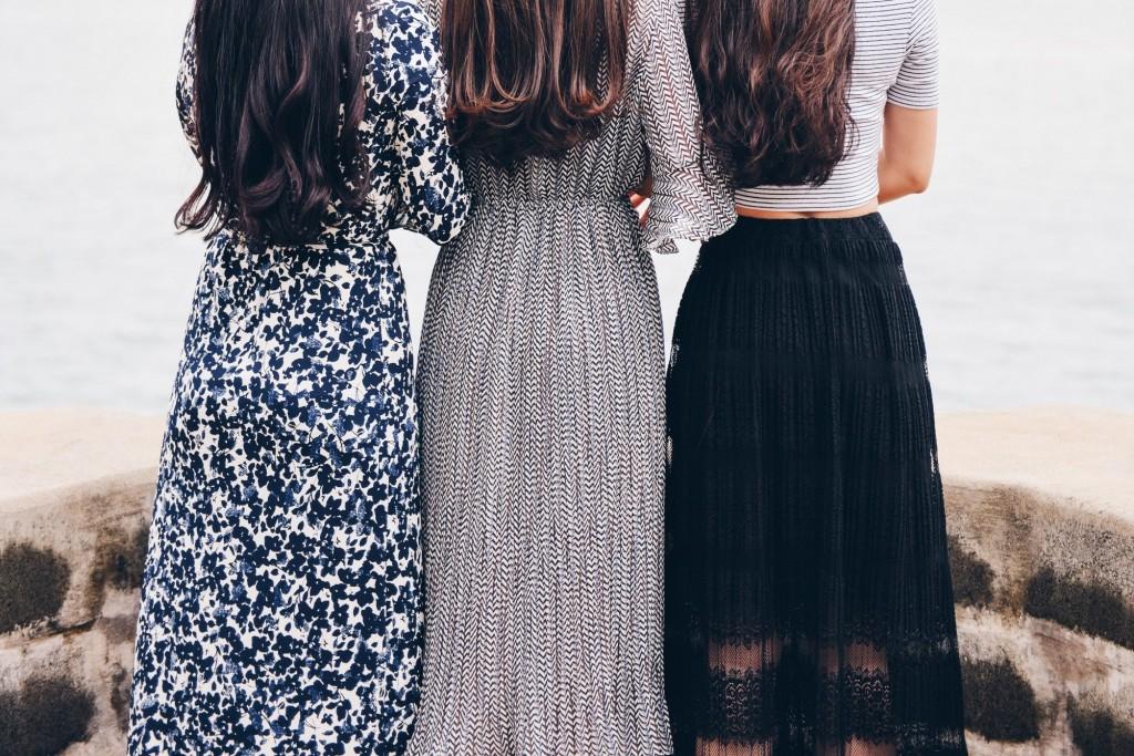 cream fashion dresses