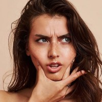 jessica clements, model, face, skin, freckles
