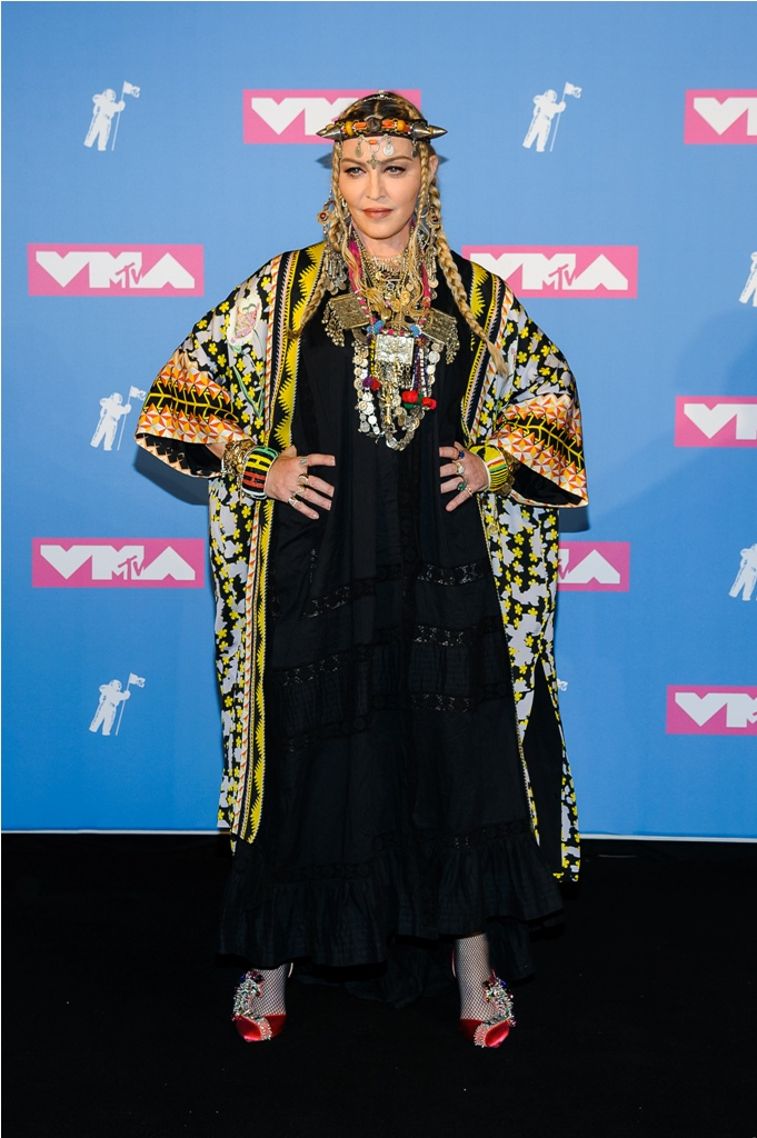 Songstress Madonna visited the press room at the 2018 MTV Video Music Awards at Radio City Music Hall in New York, NY.  Pictured: Madonna Ref: SPL5017447 200818 NON-EXCLUSIVE Picture by: Thelonius / SplashNews.com  Splash News and Pictures Los Angeles: 310-821-2666 New York: 212-619-2666 London: 0207 644 7656 Milan: +39 02 4399 8577 Sydney: +61 02 9240 7700 photodesk@splashnews.com  World Rights