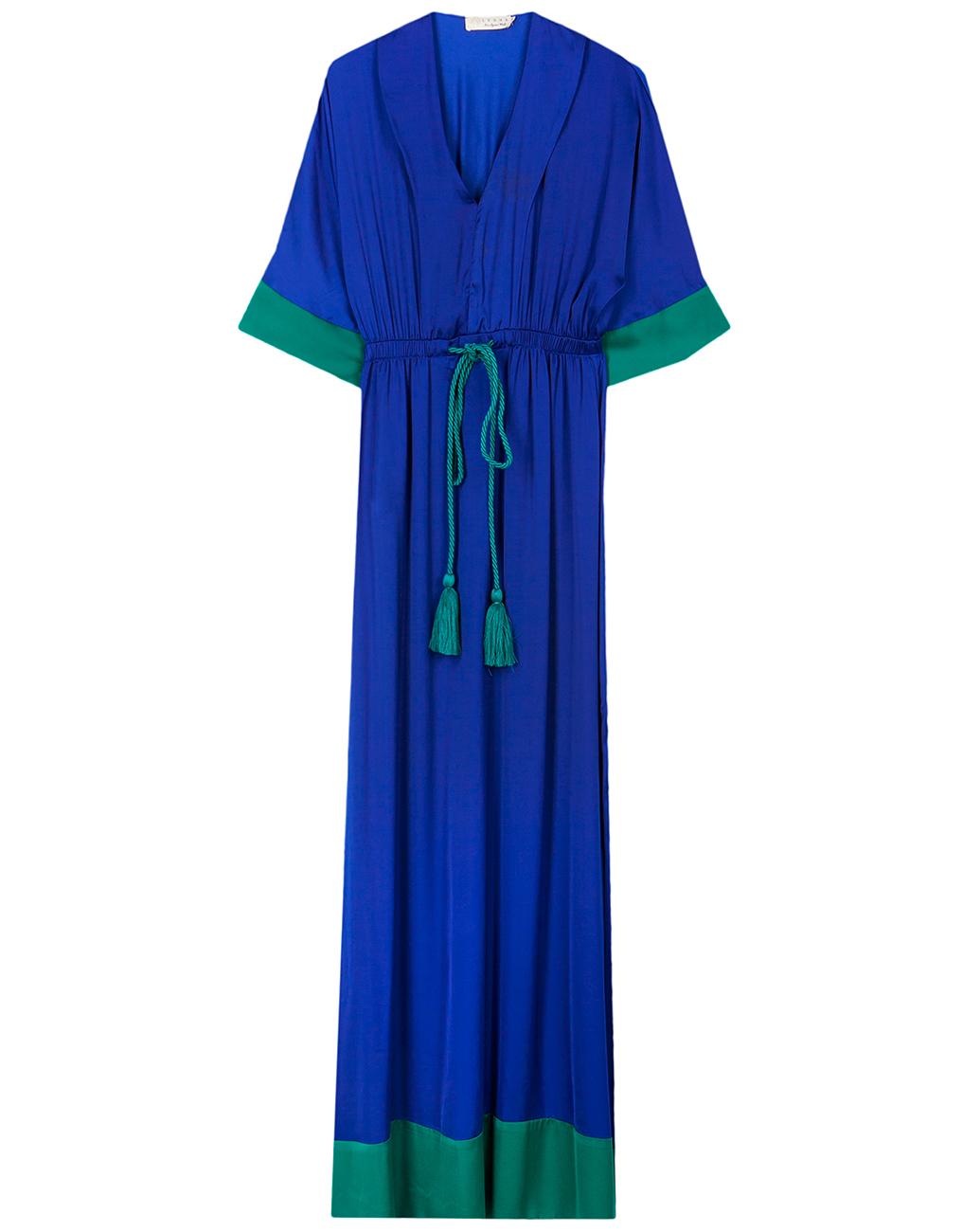 Αν θέλετε ένα μάξι μπλε φόρεμα που βγαίνει και στην απόχρωση του πράσινου  και ουσιαστικά είναι το τέλειο colorblock σε όποια εκδοχή και αν το  διαλέξετε 9823fc83b05