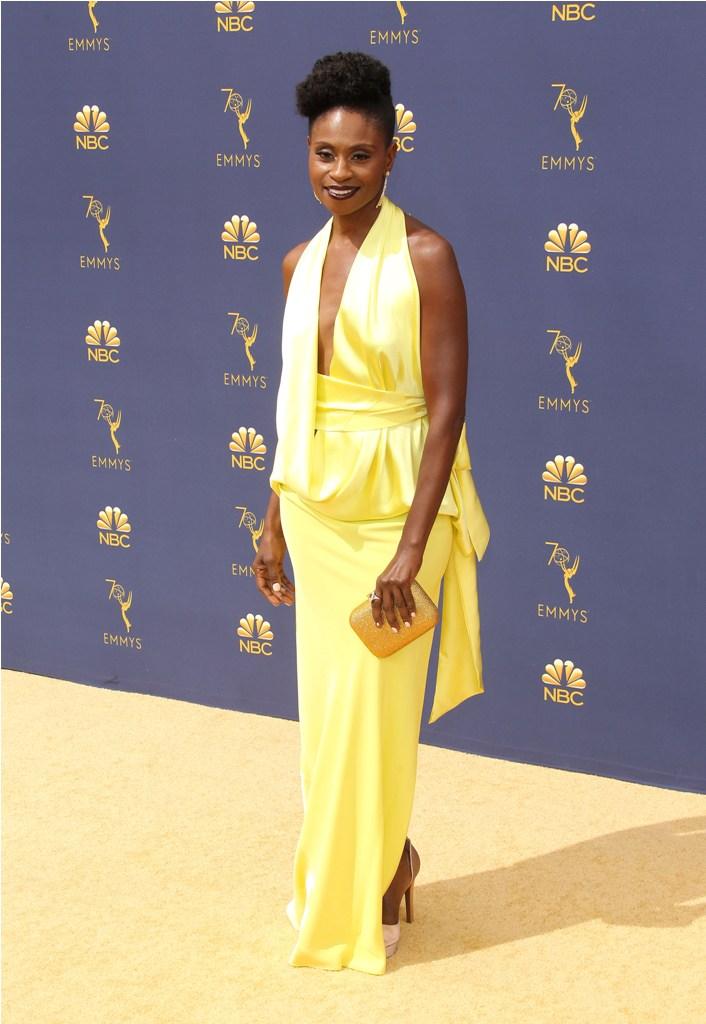 2018 Emmy Awards-  Los Angeles  Pictured: Adina Porter Ref: SPL5025244 170918 NON-EXCLUSIVE Picture by: Jen Lowery / SplashNews.com  Splash News and Pictures Los Angeles: 310-821-2666 New York: 212-619-2666 London: 0207 644 7656 Milan: +39 02 4399 8577 Sydney: +61 02 9240 7700 photodesk@splashnews.com  World Rights