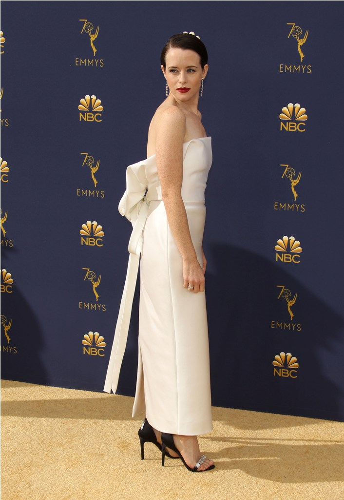 2018 Emmy Awards - Los Angeles  Pictured: Claire Foy Ref: SPL5025245 170918 NON-EXCLUSIVE Picture by: Jen Lowery / SplashNews.com  Splash News and Pictures Los Angeles: 310-821-2666 New York: 212-619-2666 London: 0207 644 7656 Milan: +39 02 4399 8577 Sydney: +61 02 9240 7700 photodesk@splashnews.com  World Rights
