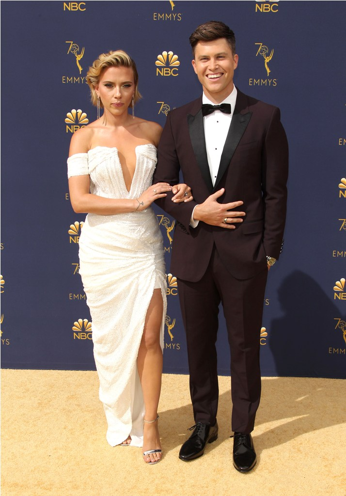 2018 Emmy Awards - Los Angeles Pictured: Colin Jost,Scarlett Johansson Ref: SPL5025245 170918 NON-EXCLUSIVE Picture by: Jen Lowery / SplashNews.com Splash News and Pictures Los Angeles: 310-821-2666 New York: 212-619-2666 London: 0207 644 7656 Milan: +39 02 4399 8577 Sydney: +61 02 9240 7700 photodesk@splashnews.com World Rights
