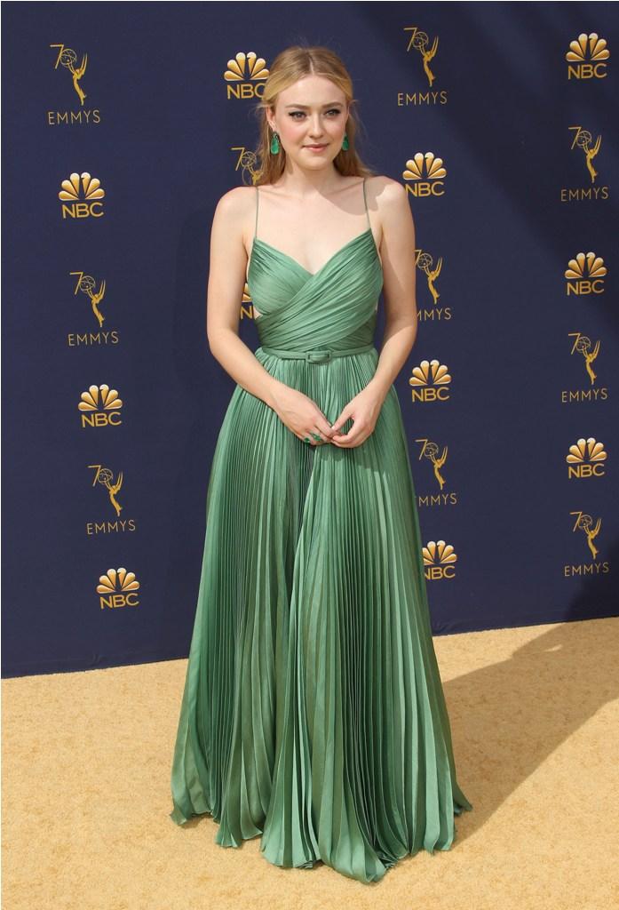 2018 Emmy Awards - Los Angeles  Pictured: Dakota Fanning Ref: SPL5025245 170918 NON-EXCLUSIVE Picture by: Jen Lowery / SplashNews.com  Splash News and Pictures Los Angeles: 310-821-2666 New York: 212-619-2666 London: 0207 644 7656 Milan: +39 02 4399 8577 Sydney: +61 02 9240 7700 photodesk@splashnews.com  World Rights