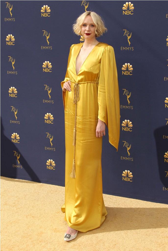 2018 Emmy Awards - Los Angeles  Pictured: Gwendoline Christie Ref: SPL5025246 170918 NON-EXCLUSIVE Picture by: Jen Lowery / SplashNews.com  Splash News and Pictures Los Angeles: 310-821-2666 New York: 212-619-2666 London: 0207 644 7656 Milan: +39 02 4399 8577 Sydney: +61 02 9240 7700 photodesk@splashnews.com  World Rights
