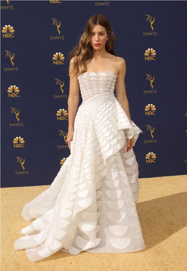 2018 Emmy Awards - Los Angeles  Pictured: Jessica Biel Ref: SPL5025246 170918 NON-EXCLUSIVE Picture by: Jen Lowery / SplashNews.com  Splash News and Pictures Los Angeles: 310-821-2666 New York: 212-619-2666 London: 0207 644 7656 Milan: +39 02 4399 8577 Sydney: +61 02 9240 7700 photodesk@splashnews.com  World Rights