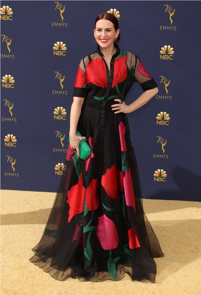 2018 Emmy Awards - Los Angeles  Pictured: Megan Mullally Ref: SPL5025249 170918 NON-EXCLUSIVE Picture by: Jen Lowery / SplashNews.com  Splash News and Pictures Los Angeles: 310-821-2666 New York: 212-619-2666 London: 0207 644 7656 Milan: +39 02 4399 8577 Sydney: +61 02 9240 7700 photodesk@splashnews.com  World Rights