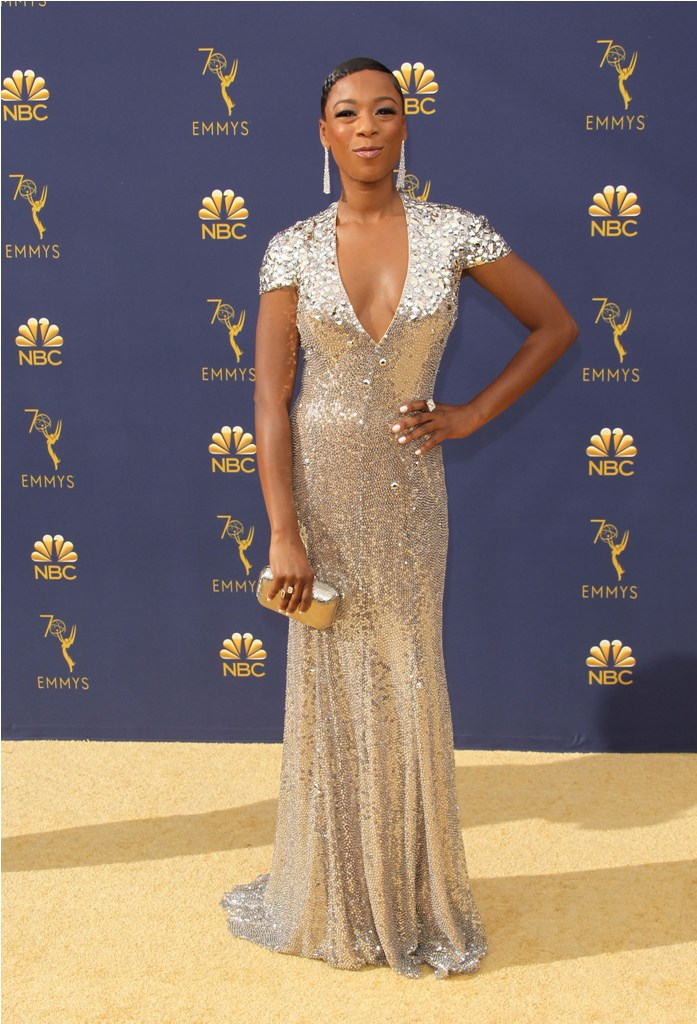 2018 Emmy Awards - Los Angeles  Pictured: Samira Wiley Ref: SPL5025251 170918 NON-EXCLUSIVE Picture by: Jen Lowery / SplashNews.com  Splash News and Pictures Los Angeles: 310-821-2666 New York: 212-619-2666 London: 0207 644 7656 Milan: +39 02 4399 8577 Sydney: +61 02 9240 7700 photodesk@splashnews.com  World Rights