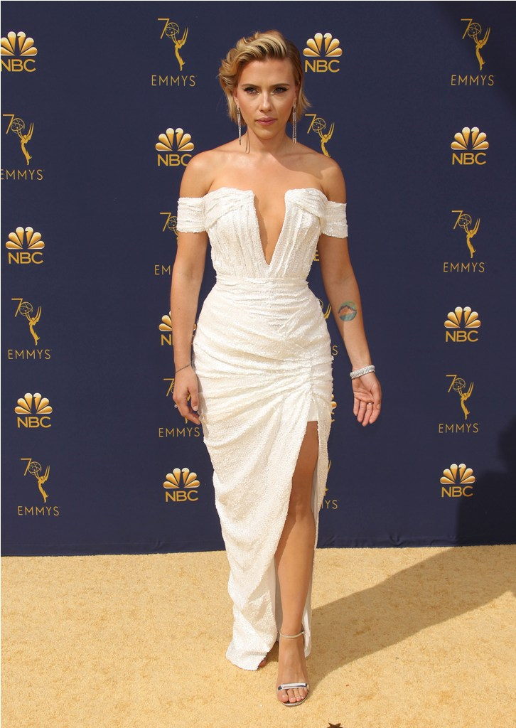 2018 Emmy Awards - Los Angeles  Pictured: Scarlett Johansson Ref: SPL5025251 170918 NON-EXCLUSIVE Picture by: Jen Lowery / SplashNews.com  Splash News and Pictures Los Angeles: 310-821-2666 New York: 212-619-2666 London: 0207 644 7656 Milan: +39 02 4399 8577 Sydney: +61 02 9240 7700 photodesk@splashnews.com  World Rights