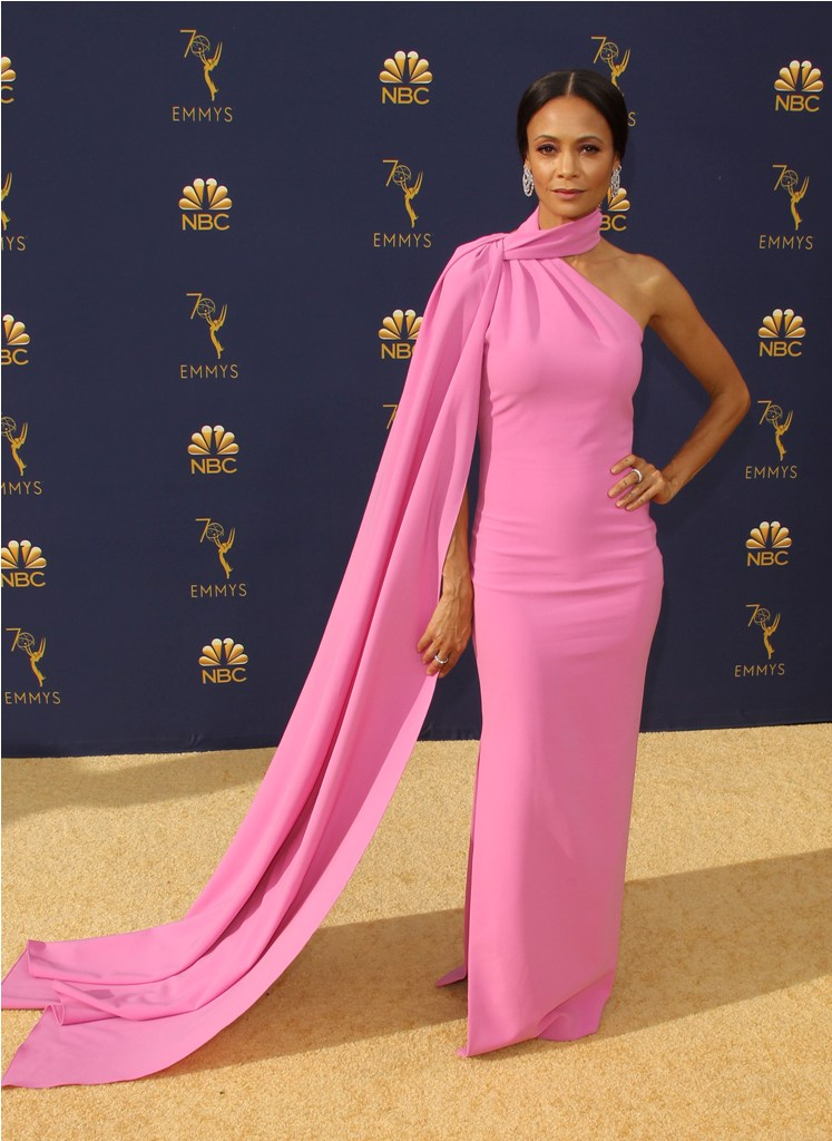2018 Emmy Awards - Los Angeles  Pictured: Thandie Newton Ref: SPL5025253 180918 NON-EXCLUSIVE Picture by: Jen Lowery / SplashNews.com  Splash News and Pictures Los Angeles: 310-821-2666 New York: 212-619-2666 London: 0207 644 7656 Milan: +39 02 4399 8577 Sydney: +61 02 9240 7700 photodesk@splashnews.com  World Rights