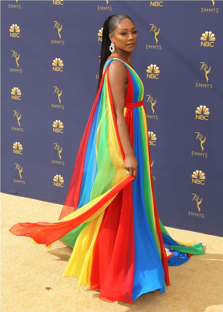 2018 Emmy Awards - Los Angeles  Pictured: Tiffany Haddish Ref: SPL5025253 180918 NON-EXCLUSIVE Picture by: Jen Lowery / SplashNews.com  Splash News and Pictures Los Angeles: 310-821-2666 New York: 212-619-2666 London: 0207 644 7656 Milan: +39 02 4399 8577 Sydney: +61 02 9240 7700 photodesk@splashnews.com  World Rights