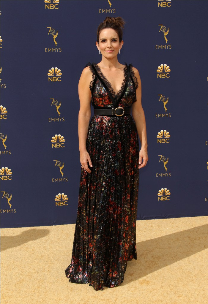 2018 Emmy Awards - Los Angeles  Pictured: Tina Fey Ref: SPL5025253 180918 NON-EXCLUSIVE Picture by: Jen Lowery / SplashNews.com  Splash News and Pictures Los Angeles: 310-821-2666 New York: 212-619-2666 London: 0207 644 7656 Milan: +39 02 4399 8577 Sydney: +61 02 9240 7700 photodesk@splashnews.com  World Rights