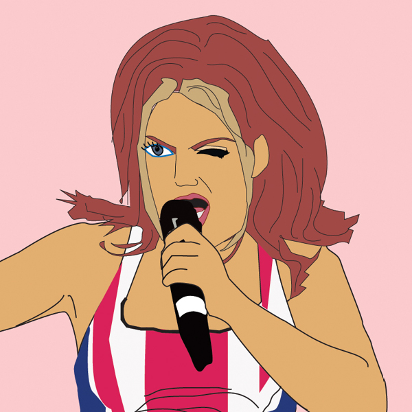 geri halliwell illustration νέο trend στο makeup