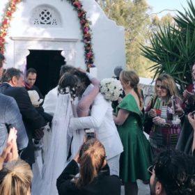 Αθηνά Οικονομάκου και Φίλιππος Μιχόπουλος παντρεύτηκαν: Το νυφικό που επέλεξε η ηθοποιός