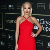 SANTA MONICA, LOS ANGELES, CA, USA - OCTOBER 11: Singer Rita Ora wearing a Prada dress, AS29 earrings, Narcisa Pheres bracelet and ring, and Djula and Le Vian rings arrives at the City Of Hope Gala 2018 held at Barker Hangar on October 11, 2018 in Santa Monica, Los Angeles, California, United States. (Photo by Xavier Collin/Image Press Agency/Splash News) Pictured: Rita Ora Ref: SPL5033061 111018 NON-EXCLUSIVE Picture by: Xavier Collin/Image Press Agency/Splash News / SplashNews.com Splash News and Pictures Los Angeles: 310-821-2666 New York: 212-619-2666 London: 0207 644 7656 Milan: +39 02 4399 8577 Sydney: +61 02 9240 7700 photodesk@splashnews.com World Rights
