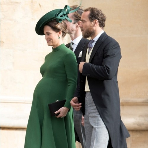 Guests attend the Royal Wedding of Princess Eugenie to Jack Brooksbank at St George's Chapel, Windsor Castle. Pictured: Pippa Middleton and James Middleton Ref: SPL5032896 121018 NON-EXCLUSIVE Picture by: SplashNews.com Splash News and Pictures Los Angeles: 310-821-2666 New York: 212-619-2666 London: 0207 644 7656 Milan: +39 02 4399 8577 Sydney: +61 02 9240 7700 photodesk@splashnews.com World Rights