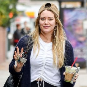 Hilary Duff: Ήπιε smoothie με τον πλακούντα της