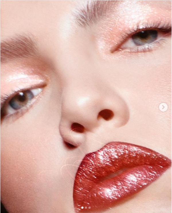 glitter look eyes lips 3
