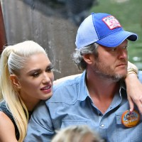 Gwen Stefani and Blake Shelton pack on the PDA while riding the Jungle Cruise ride at Disneyland