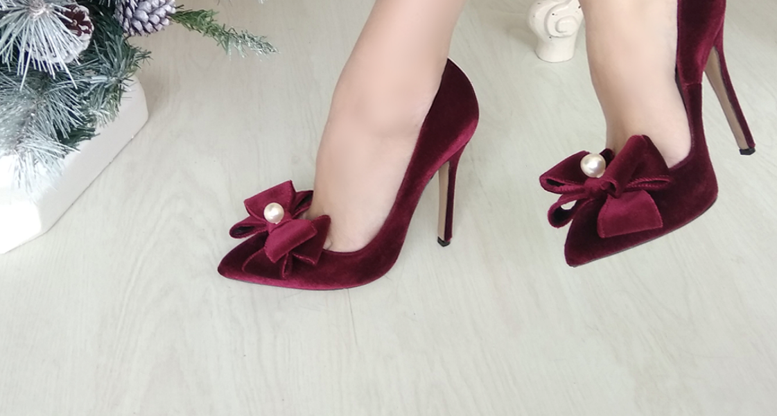 VELVET HEELS Once Upon a Shoe