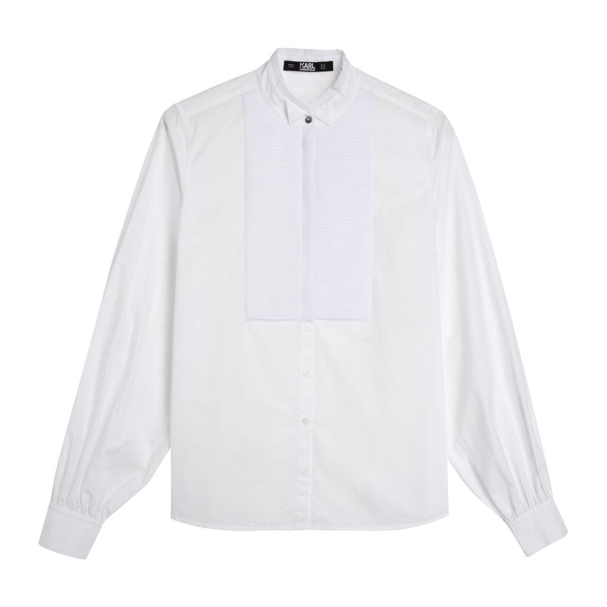 kl-x-olivia-palermo-pleated-plastron-poplin-shirt-96kw1600
